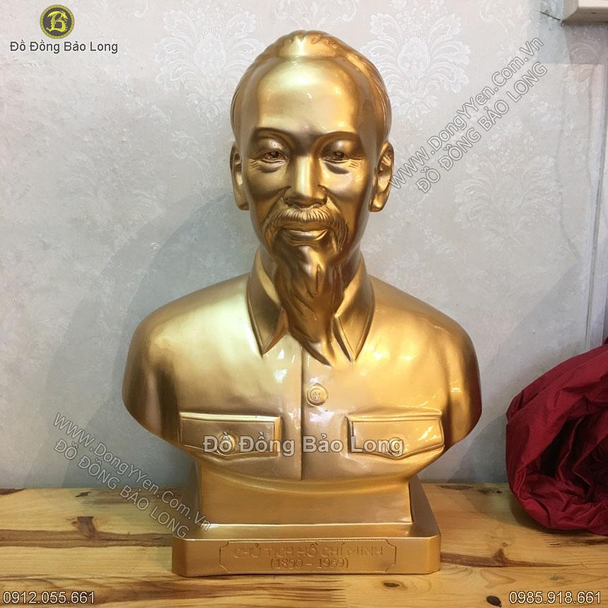 Tượng Đồng Chân Dung Bác Hồ 45cm