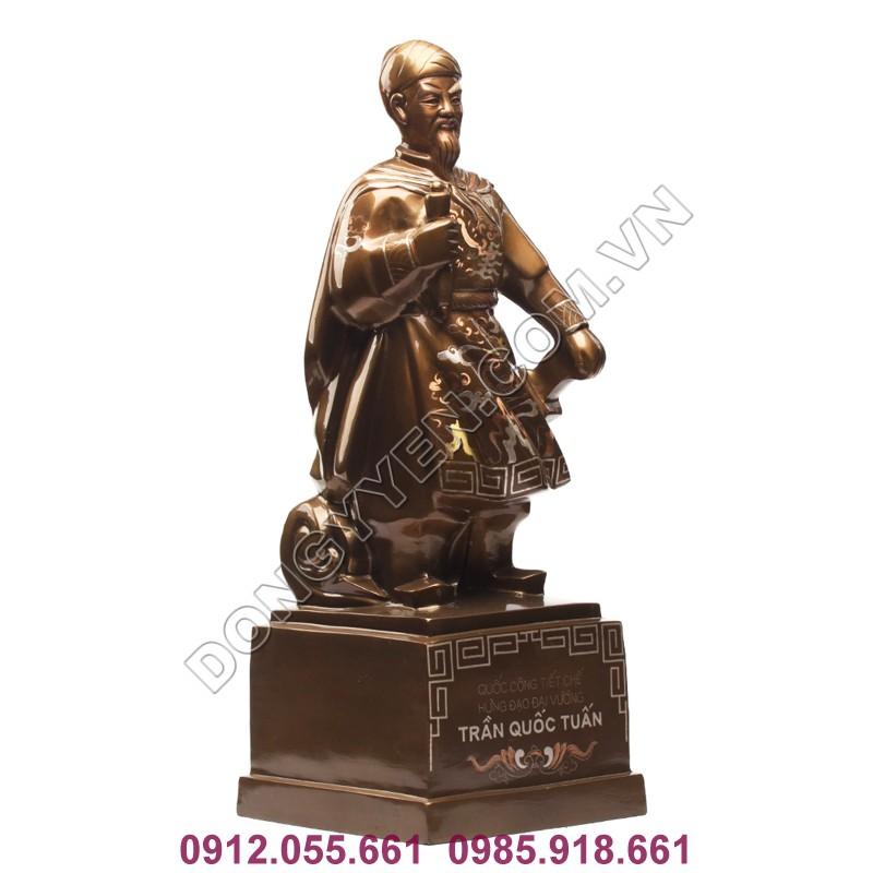 tượng đồng trần quốc tuấn cao 60cm