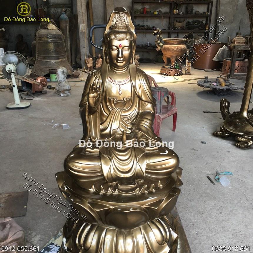 Đúc Tượng Đồng Phật Bà Quan Âm 1m27