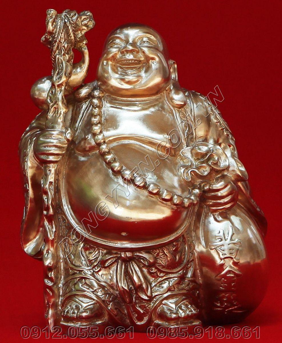 Tượng Đức Phật Di Lặc Bằng Đồng cao 16cm