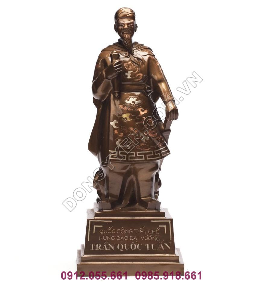 Tượng Đồng Trần Hưng Đạo Cao 38cm