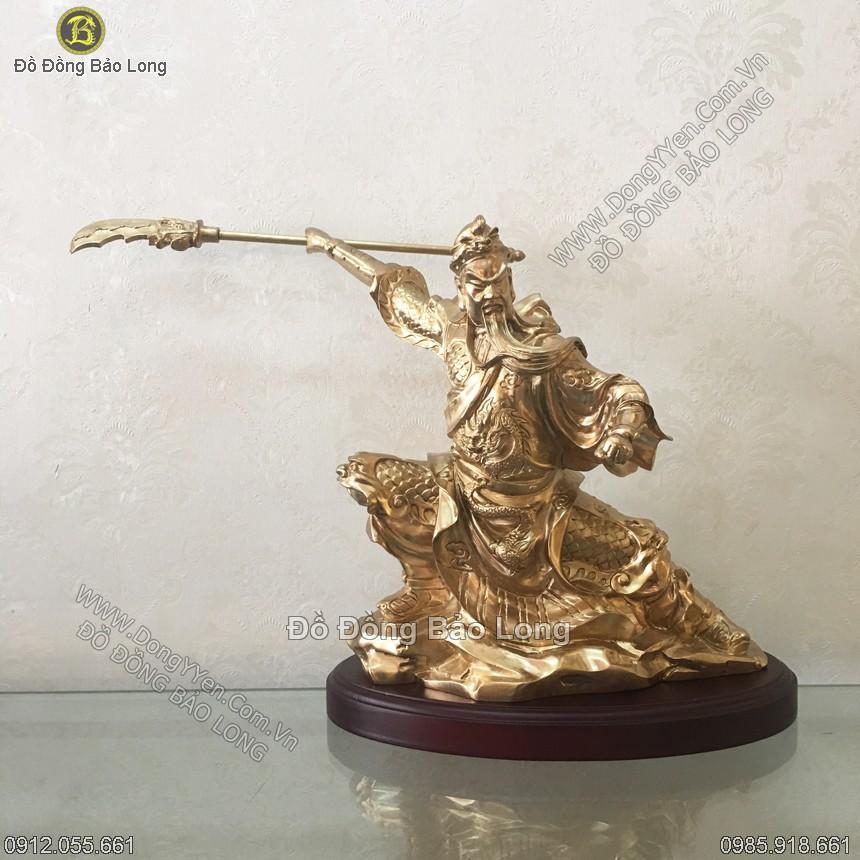 tượng quan công múa đao xuống tấn cao 30cm