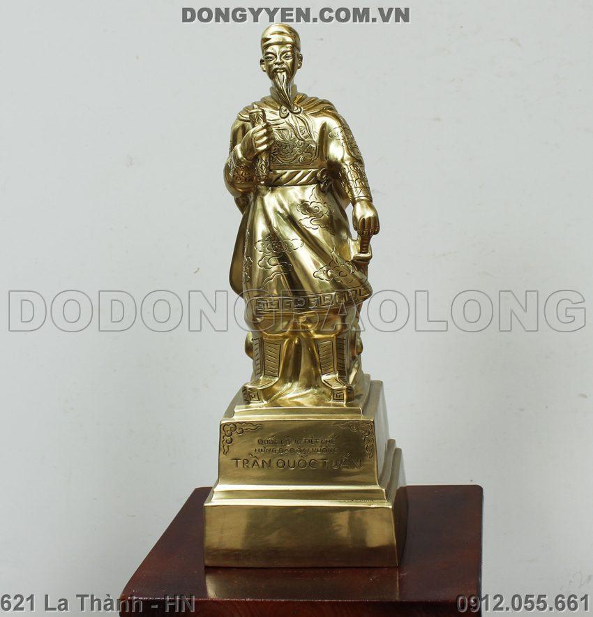 tượng đồng trần quốc tuấn cao 40cm