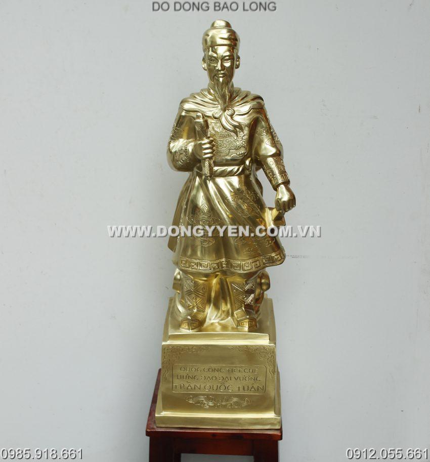 tượng đồng hưng đạo cao 70cm