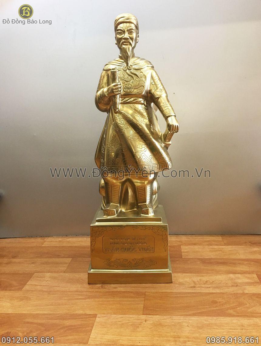 tượng trần hưng đạo bằng đồng cát tút 60cm