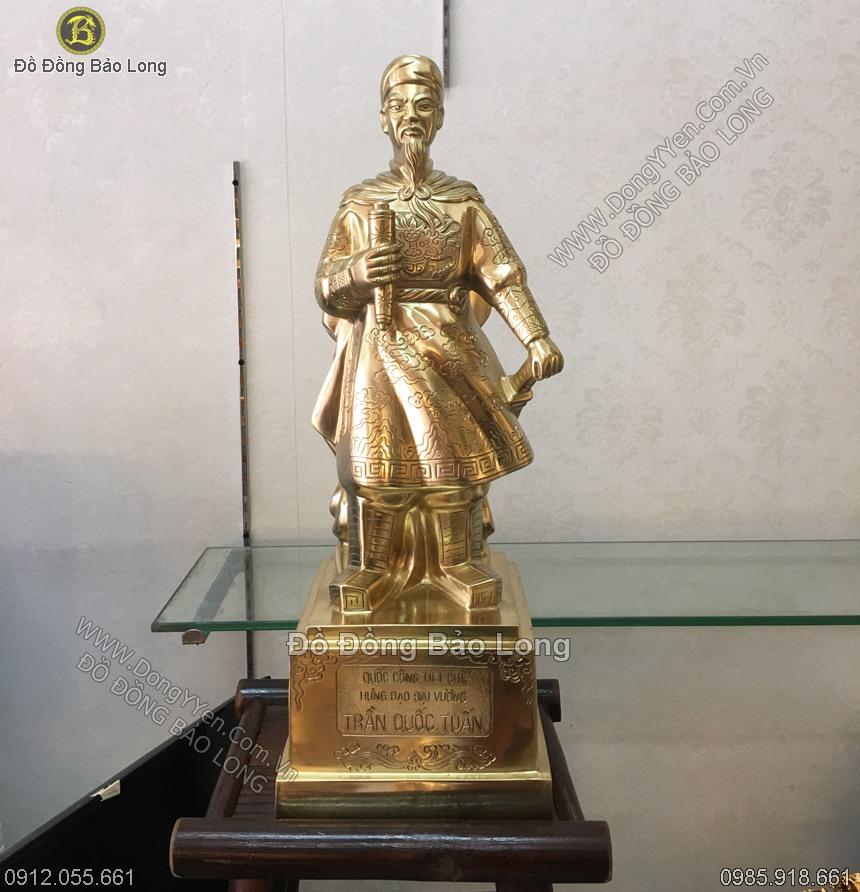 tượng trần quốc tuấn cao 50cm đồng cát tút