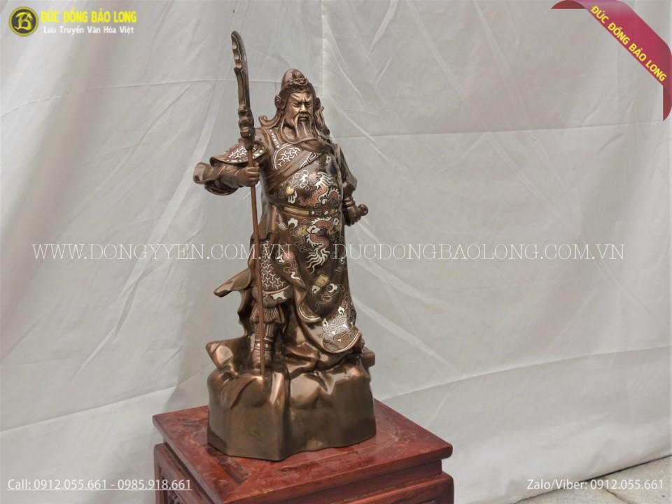 tượng quan công bằng đồng cao 48cm