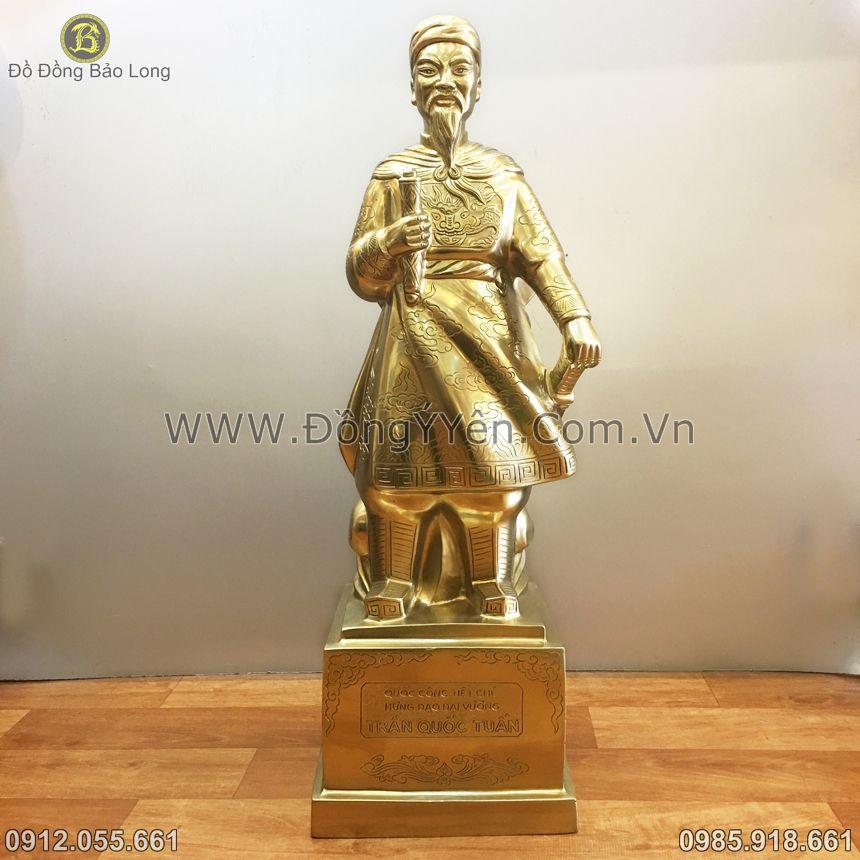 Bán Tượng Trần Hưng Đạo Đồng Vàng 60cm