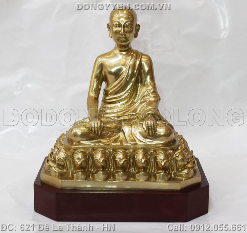 Tượng Phật Hoàng Trần Nhân Tông Bằng Đồng