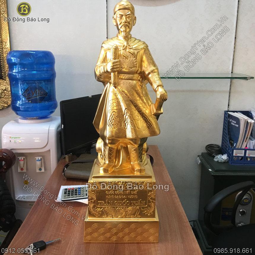 Tượng Trần Hưng Đạo Dát Vàng 75cm