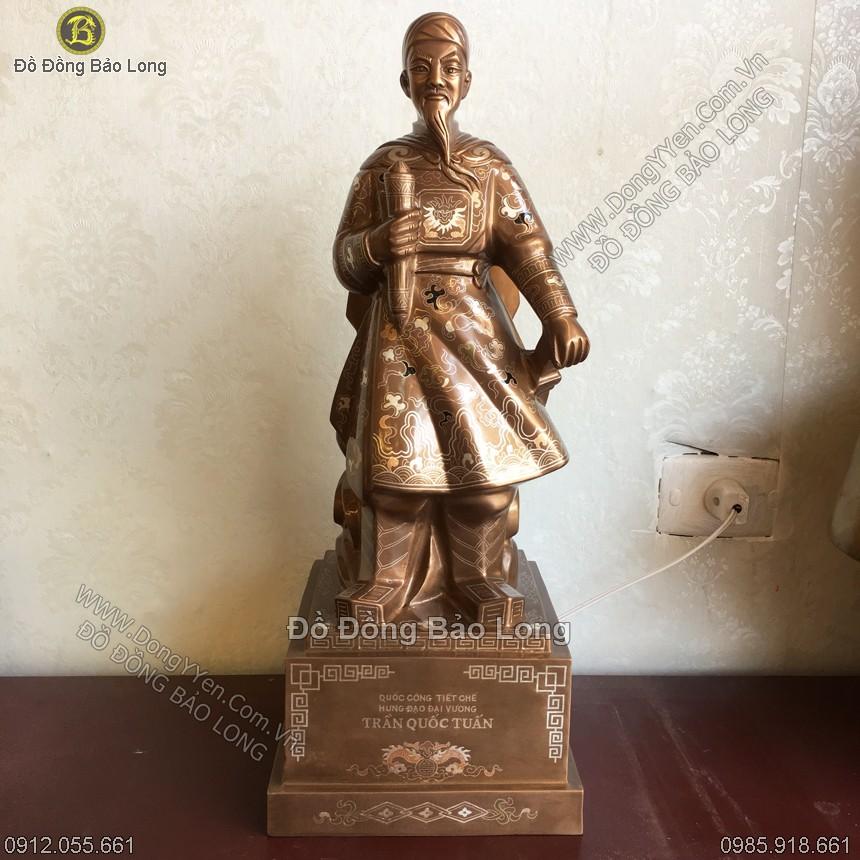 Tượng Trần Hưng Đạo Khảm Kỹ 50cm