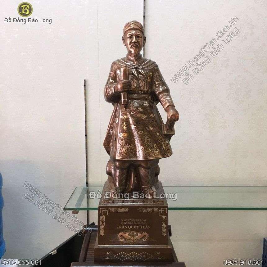 Tượng Trần Hưng Đạo Khảm tam Khí Hàng Đặt 73cm