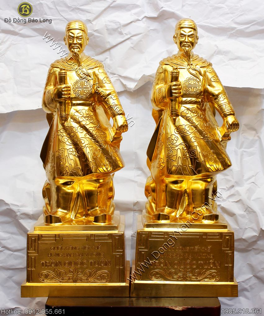 Tượng Trần Hưng Đạo Thếp Vàng 9999