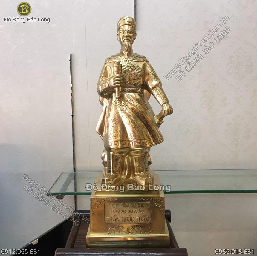 Tượng Trần Quốc Tuấn Đồng Cát Tút 50cm