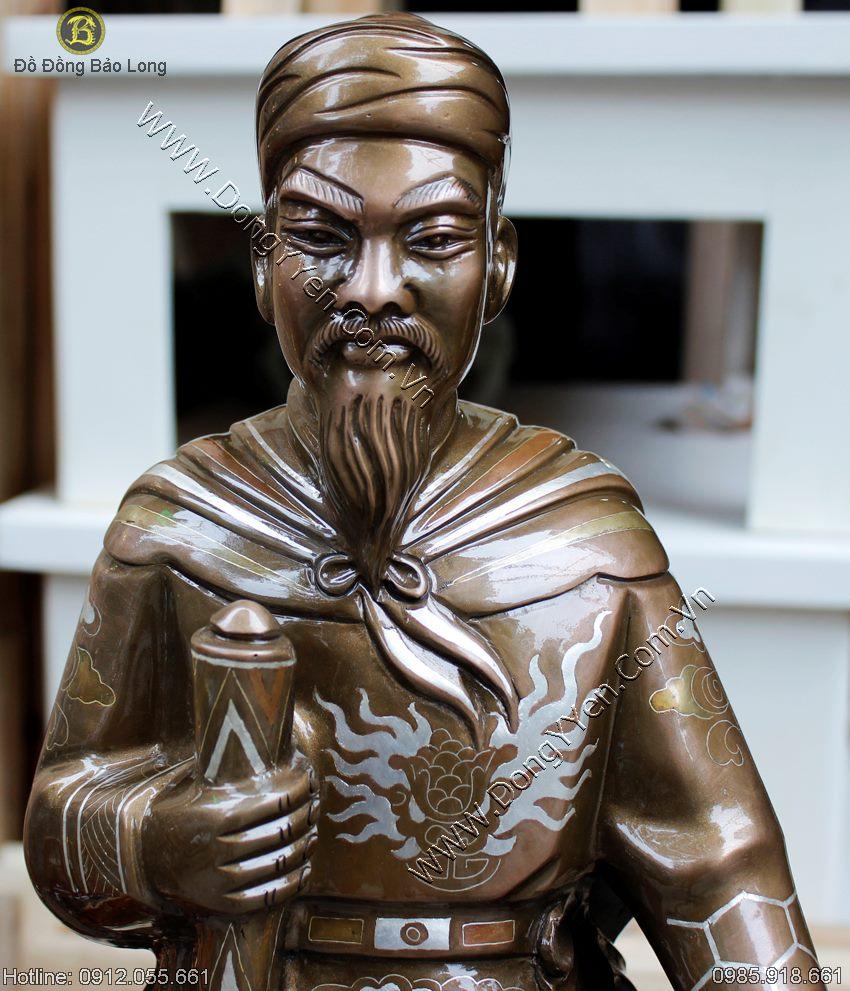 Tượng Trần Quốc Tuấn Khảm Tam Khí 60cm
