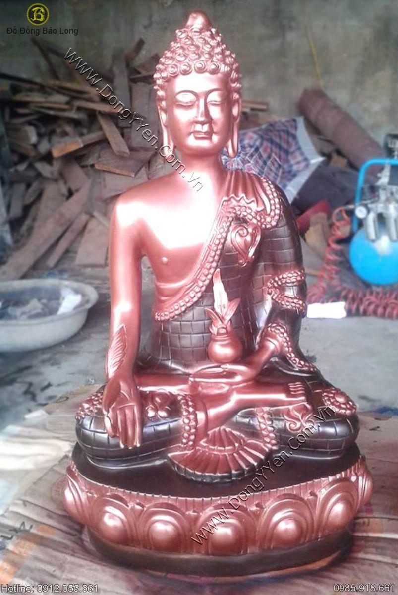 tượng phật thái lan bằng đồng đỏ cao 42cm