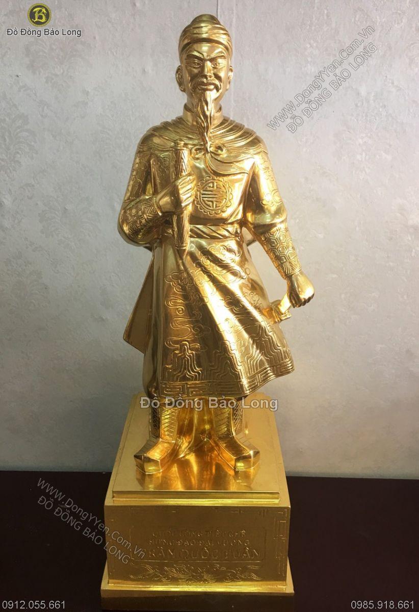 tượng trần hưng đạo thếp vàng cao 81cm