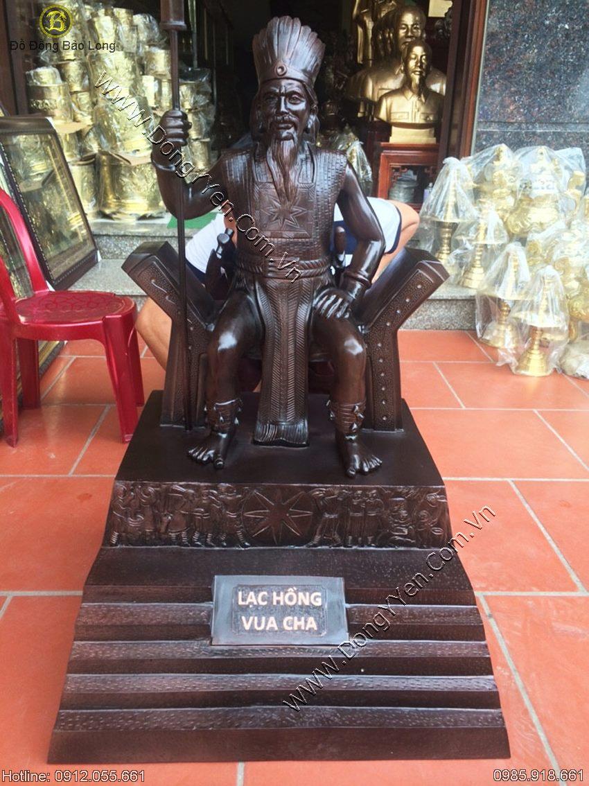 tượng vua hùng lạc long quân cao 1m07
