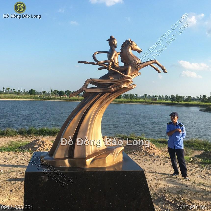 tượng đồng thánh gióng cao 1m33