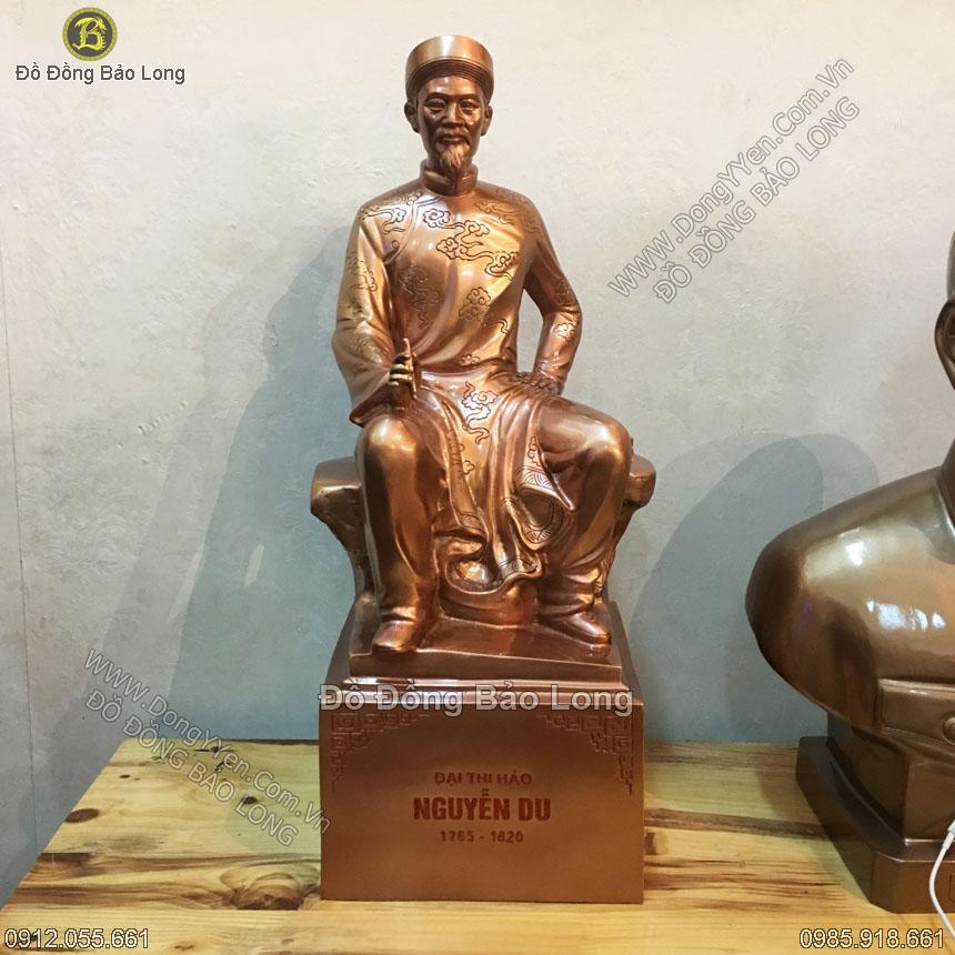 tượng đồng đại thi hào nguyễn du 50cm