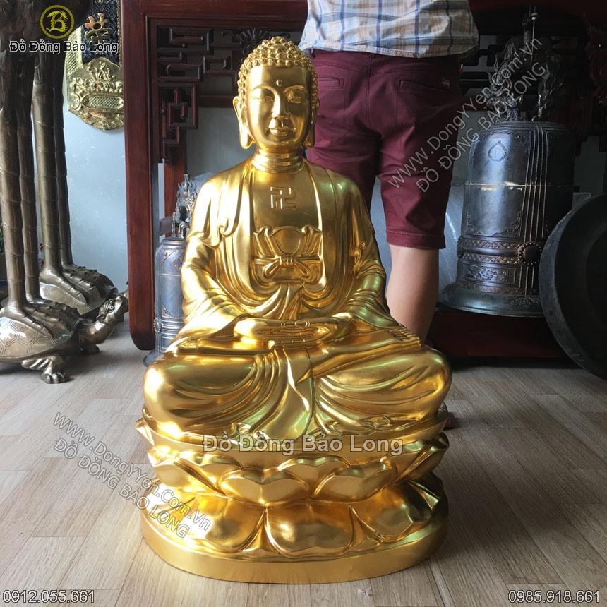 tượng phật thíc ca dát vàng cao 81cm