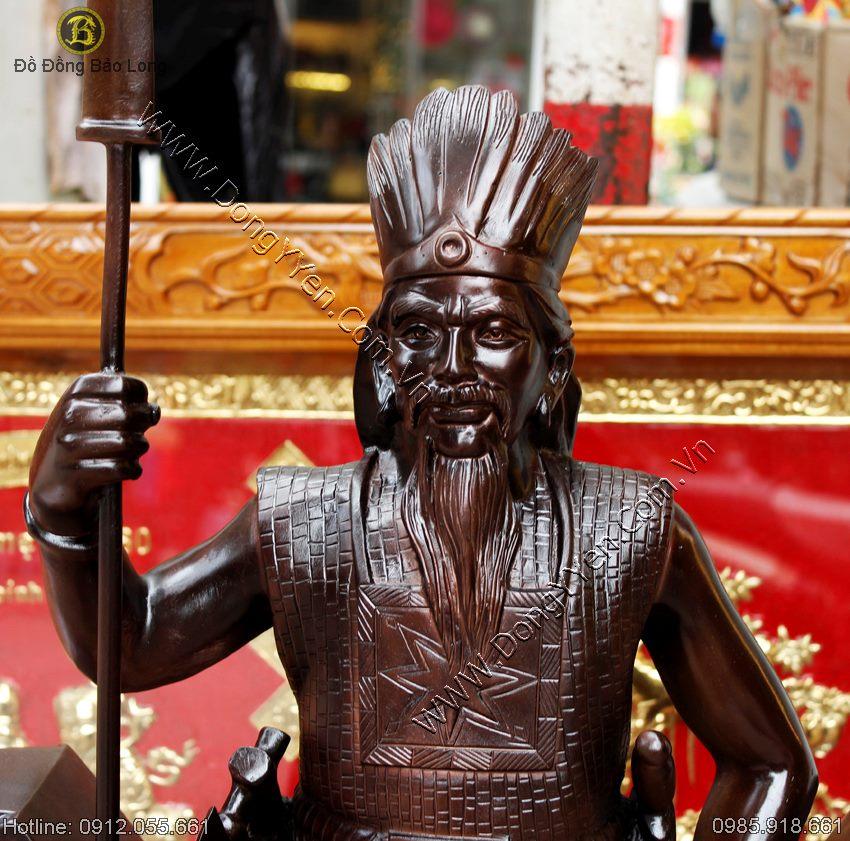 Đúc Tượng Vua Hùng Lạc Long Quân 1m07