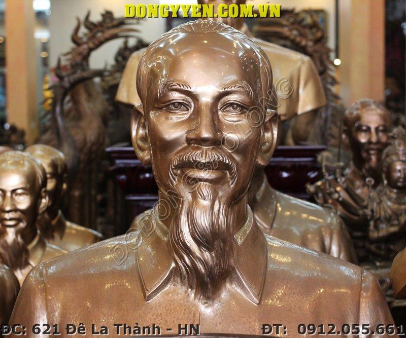 Tượng Bác Hồ Đúc Bằng Đồng Thờ Cúng 50cm, 60cm, 70cm, 80cm