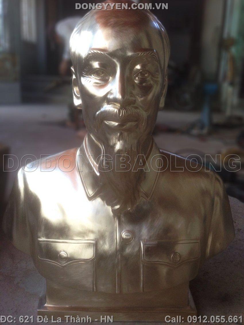 Tượng Chân Dung Bác Hồ Bằng Đồng mẫu mới Đẹp Nhất