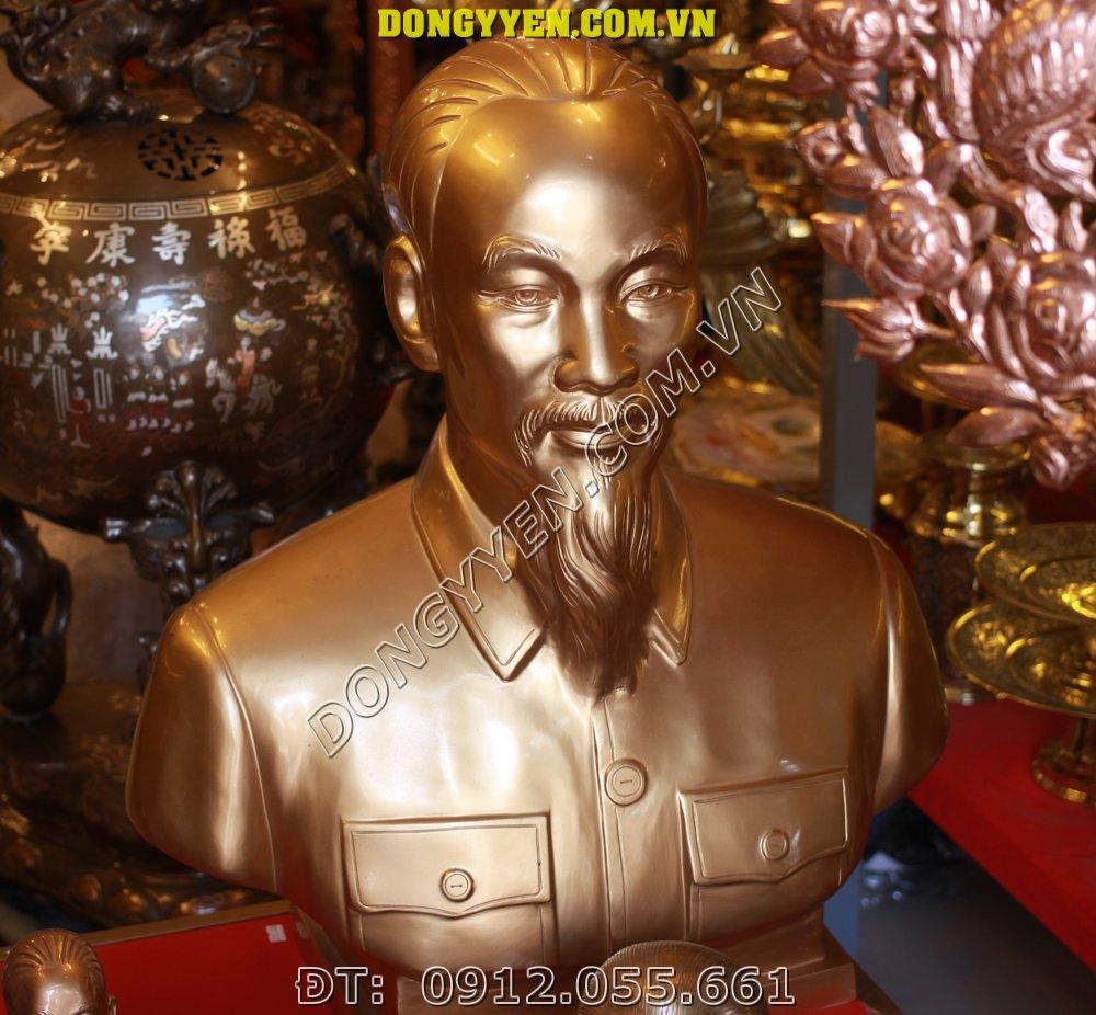 Tượng Chân Dung Bác Hồ Bằng Đồng