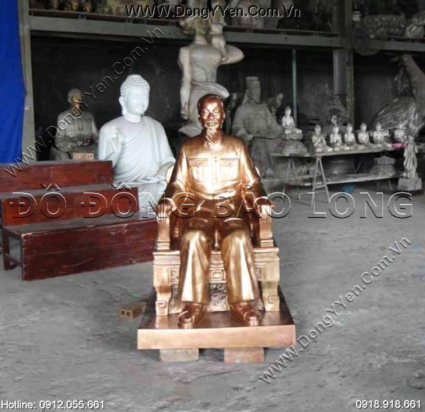 Tượng Đồng Bác Hồ Ngồi Ghế 1m