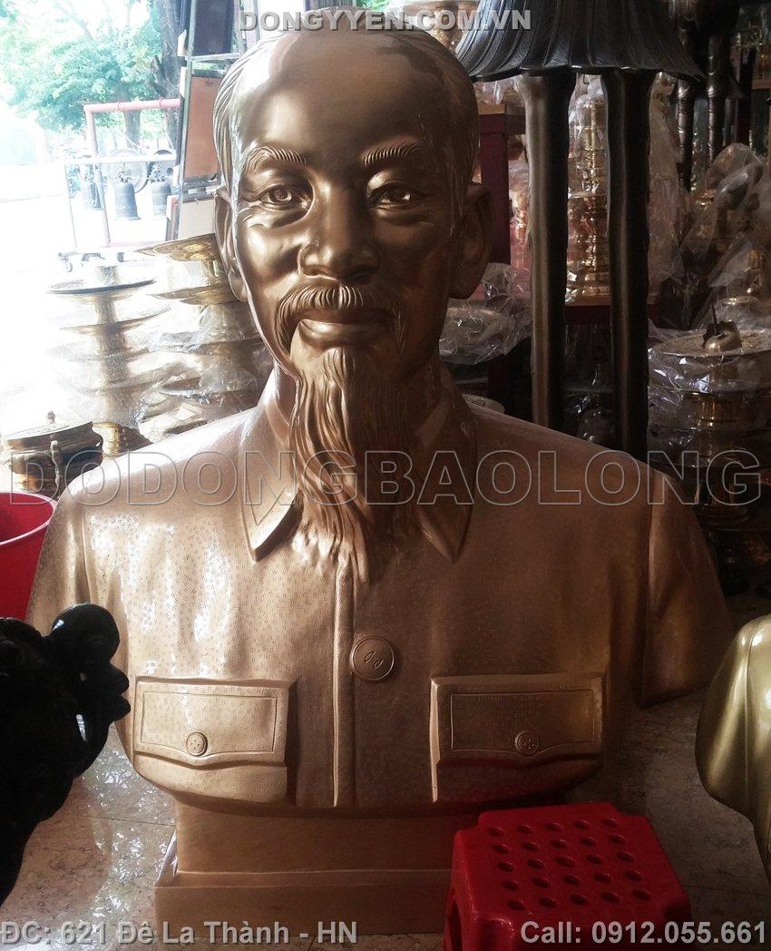 Tượng Đồng Chân Dung Bác Hồ 1m1