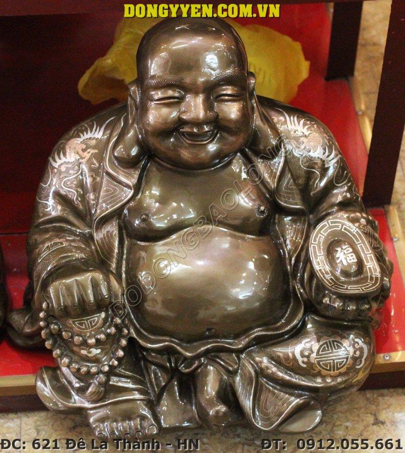 Tượng Đồng Di Lạc Khảm Tam Khí