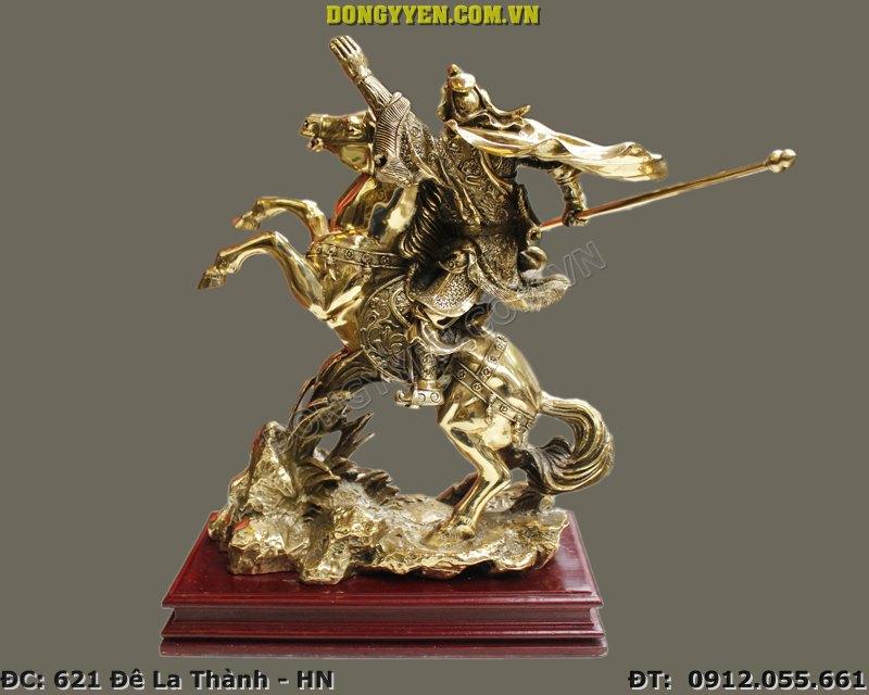 Tượng Đồng Quan Công Cưỡi Ngựa Cao 40cm