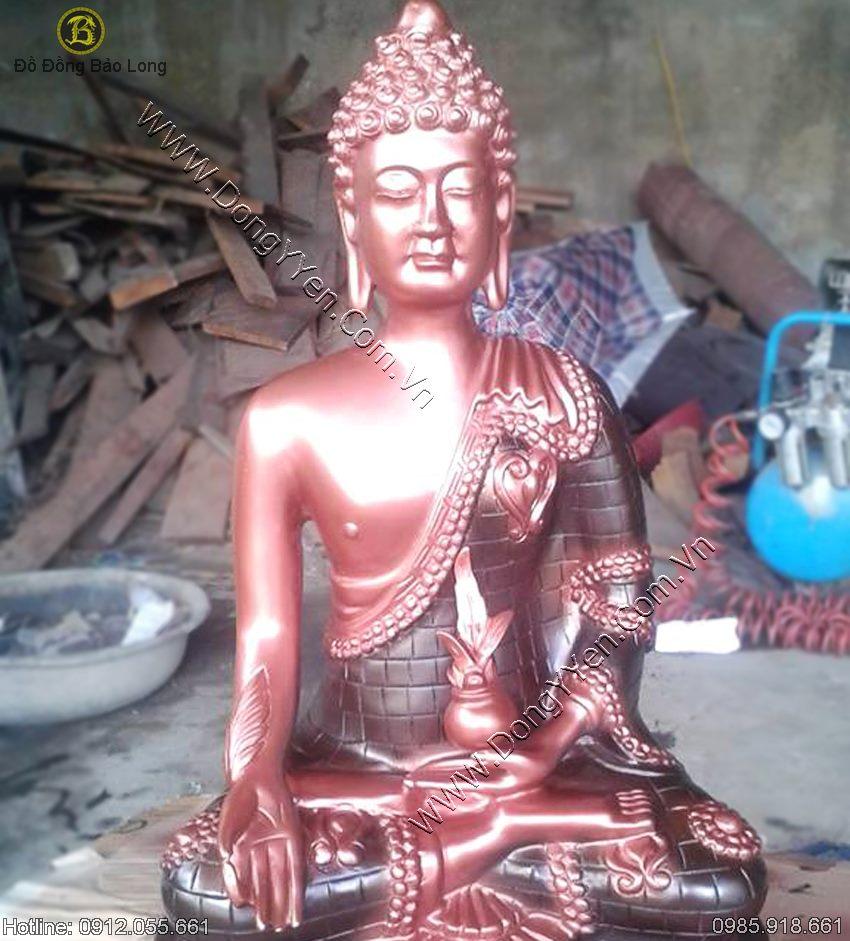 Tượng Phật Thái Lan Bằng Đồng Đỏ 42cm