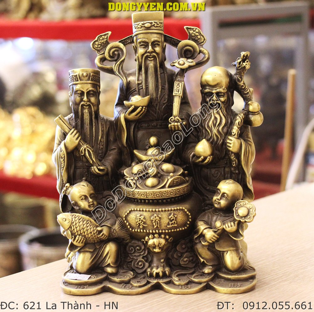 Tượng Tam Đa Bằng Đồng - Tượng 3 Ông Phúc Lộc Thọ Bằng Đồng