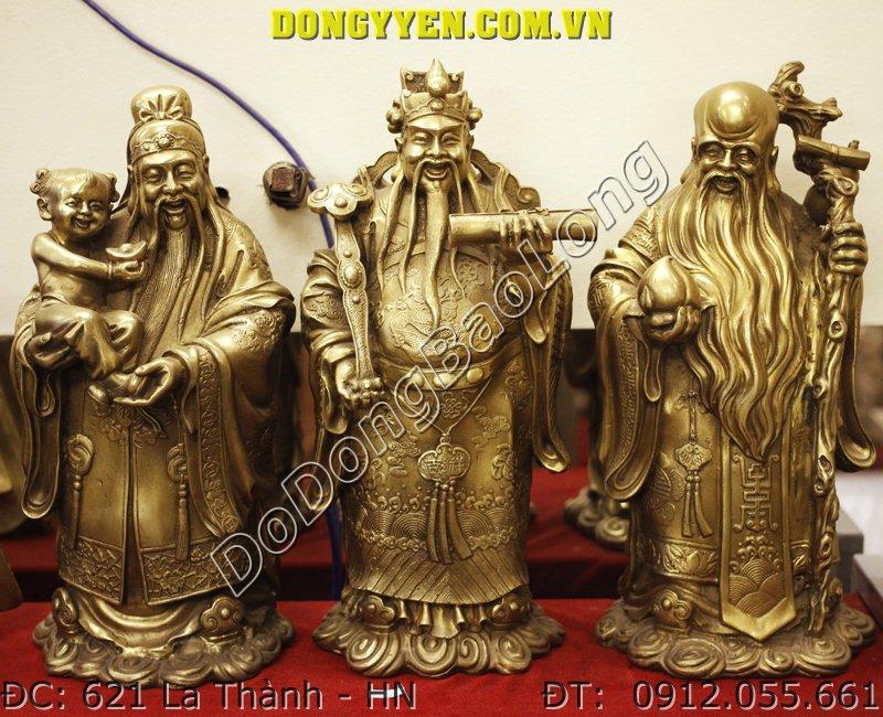Tượng Tam Đa Bằng Đồng Cao 38cm