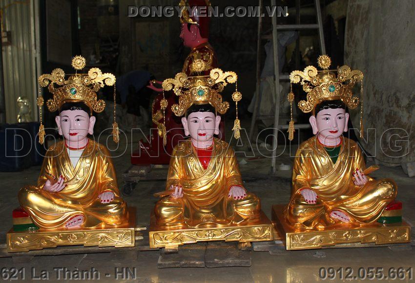 Tượng Đồng Tam Tòa Thánh Mẫu Thếp Vàng