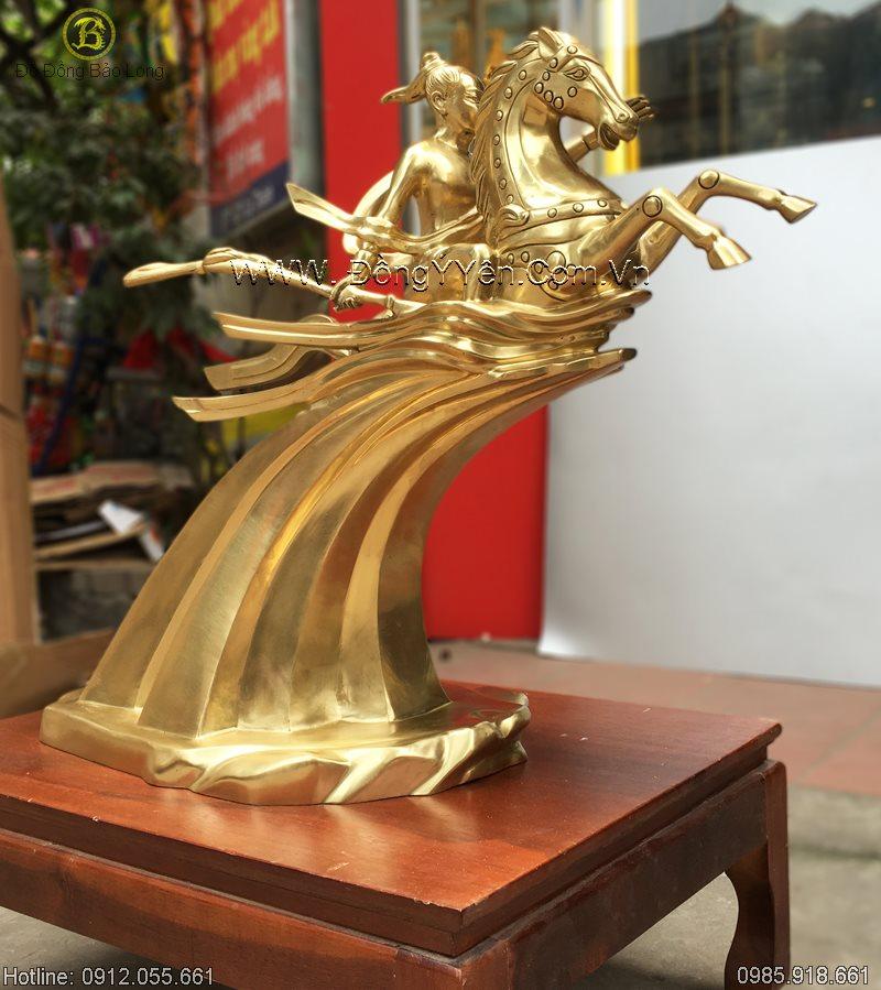 Tượng Thánh Gióng Bằng Đồng Cát Tút 62cm
