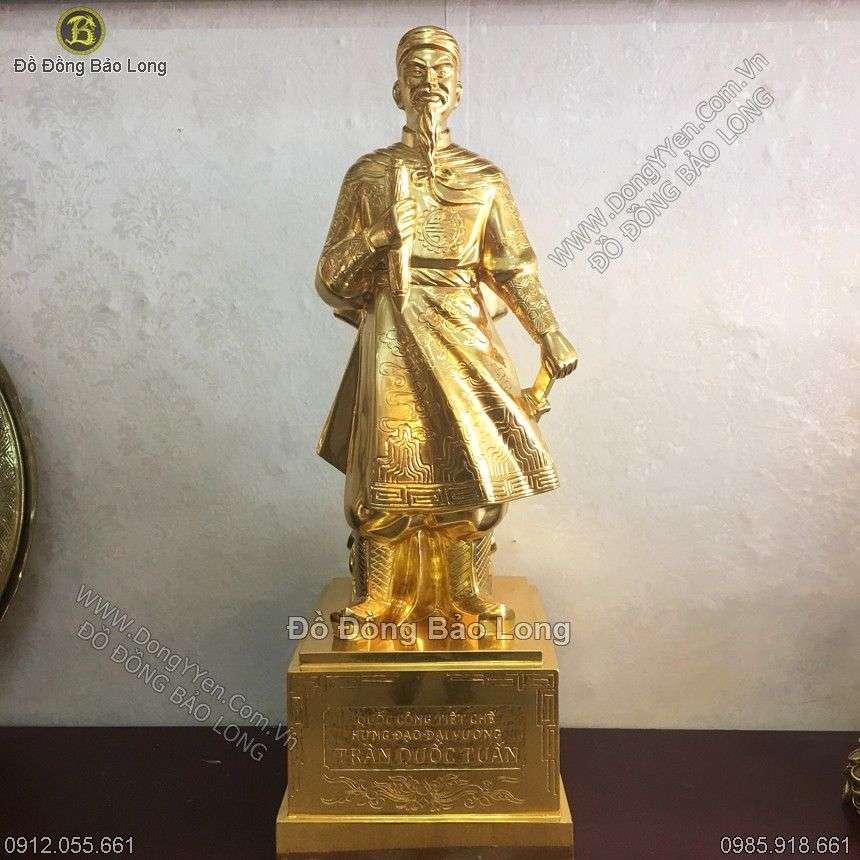 Tượng Trần Hưng Đạo Cao 81cm Thếp Vàng