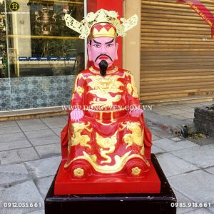 Đúc Tượng Trần Triều 61cm cho điện thờ tư gia ở Quảng Ninh