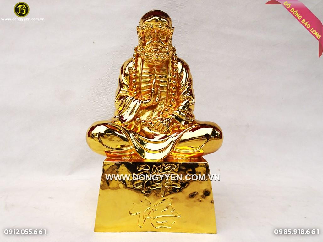 tượng đạt mạ sư tổ bằng đồng mạ vàng 24k cao 45cm