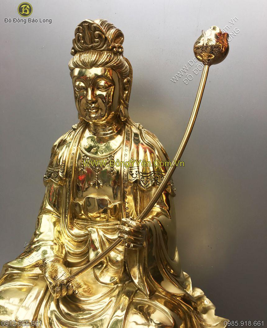 tượng bồ tát đại thế chí bằng đồng cao 68cm