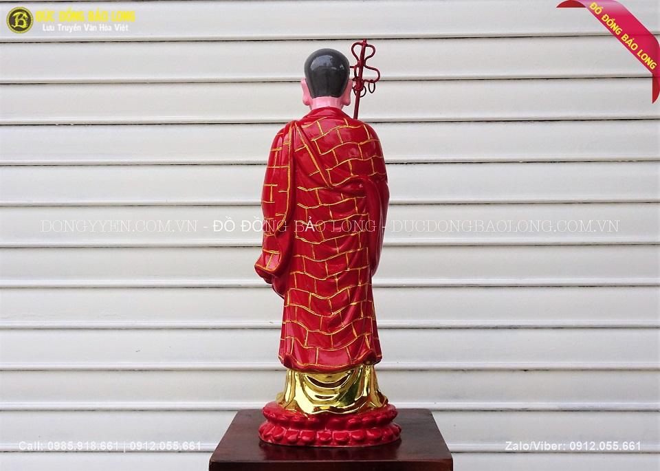 tượng địa tạng sơn son thiếp vàng'
