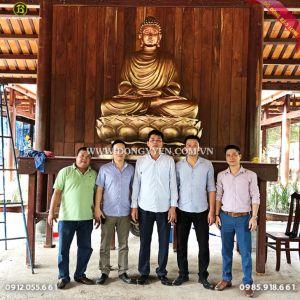 Đúc Tượng Đồng Thích Ca 2m17 cho chùa Tam Bửu Tiền Giang