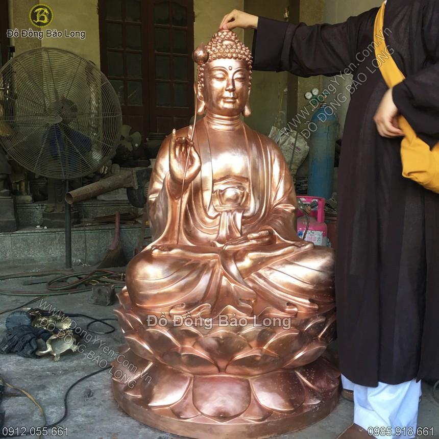 Đúc Tượng Phật Thích Ca Niên Hoa Vi Tiếu 1m4