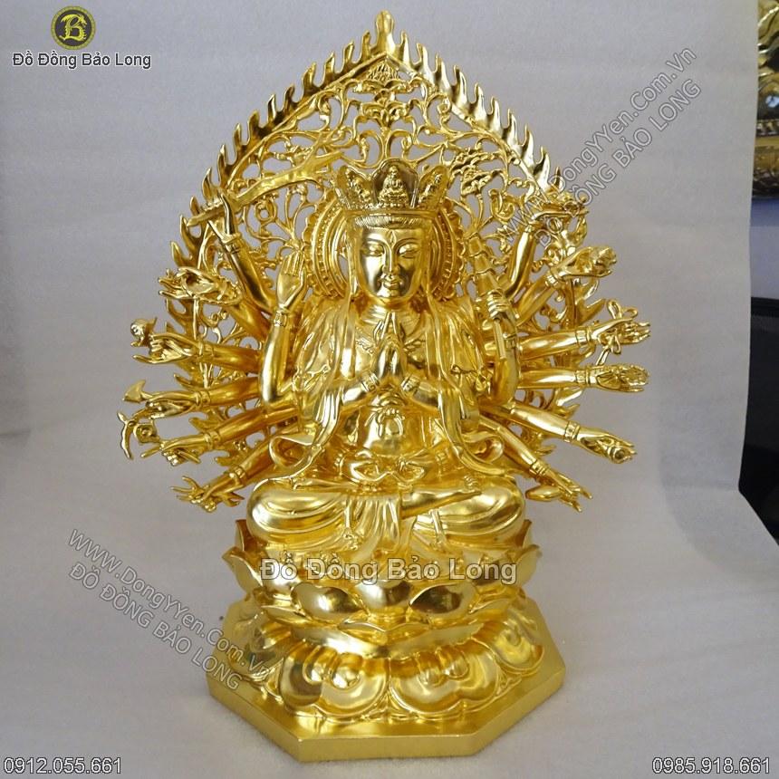 Tượng Chuẩn Đề 40cm Dát Vàng 9999