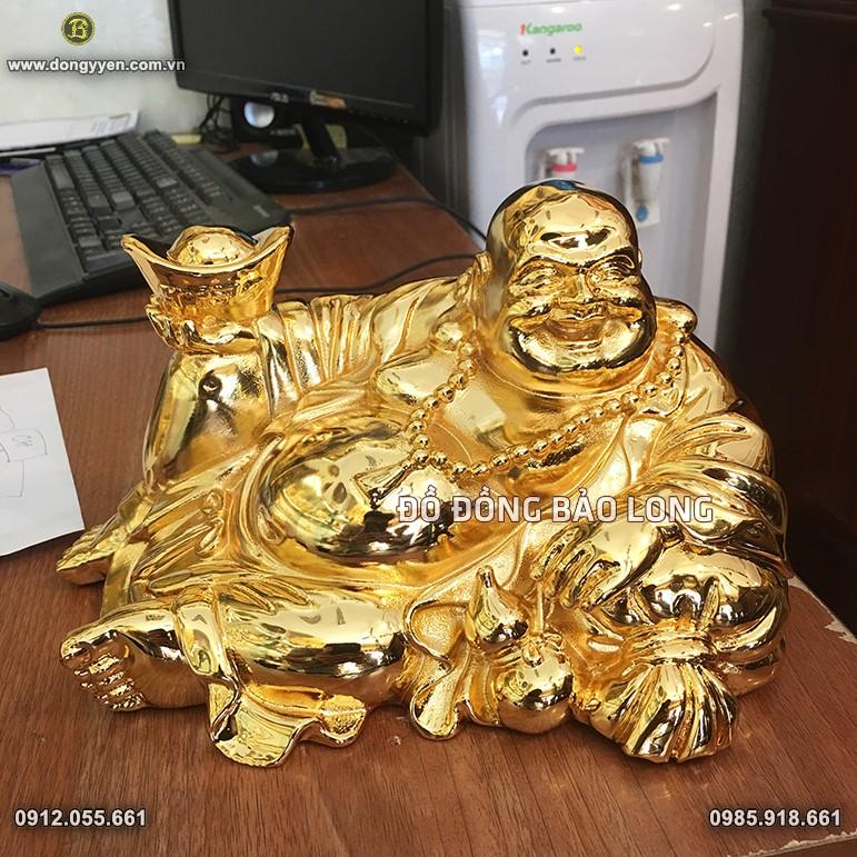 Tượng Di Lặc Ngồi Mạ Vàng 24k 25cm