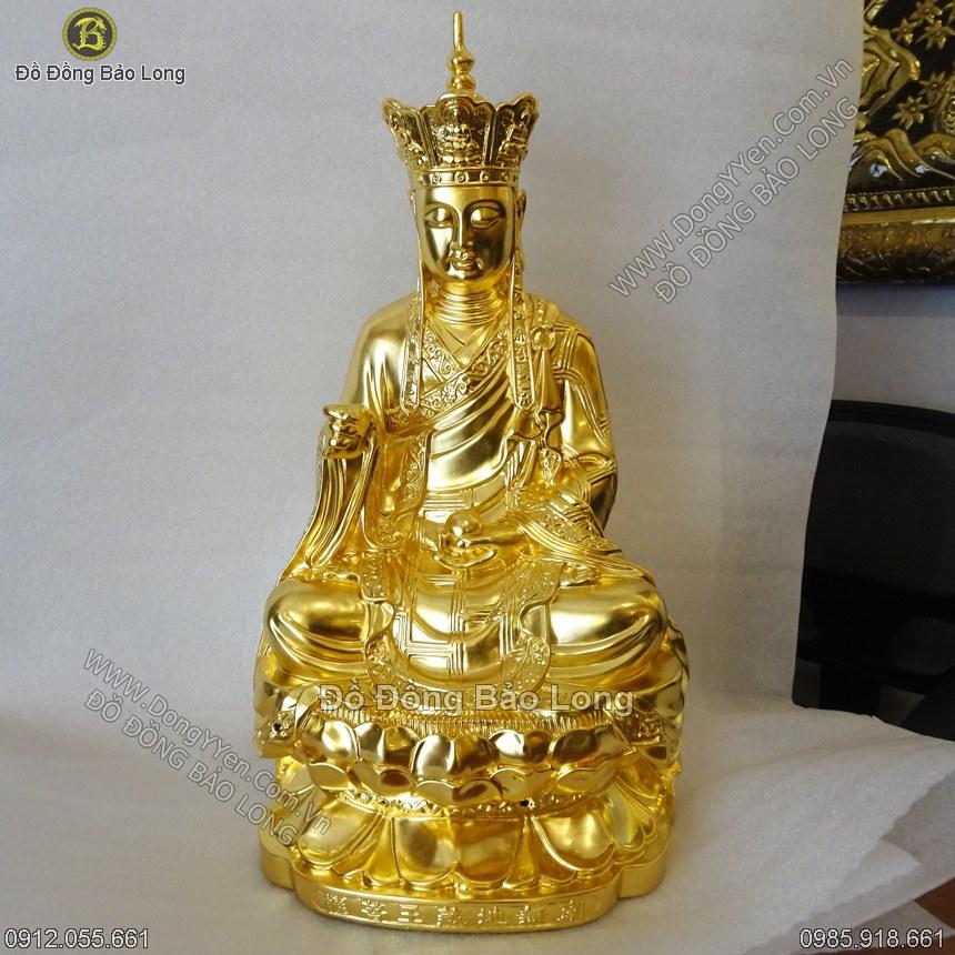 Tượng Địa Tạng Vương Bồ tát 50cm Dát Vàng