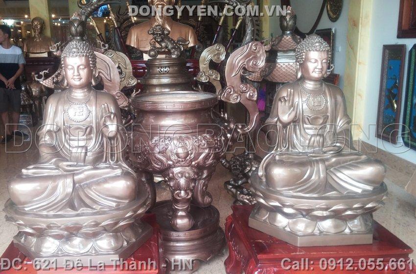 Tượng Đồng Phật Thích Ca Mâu Ni 1m