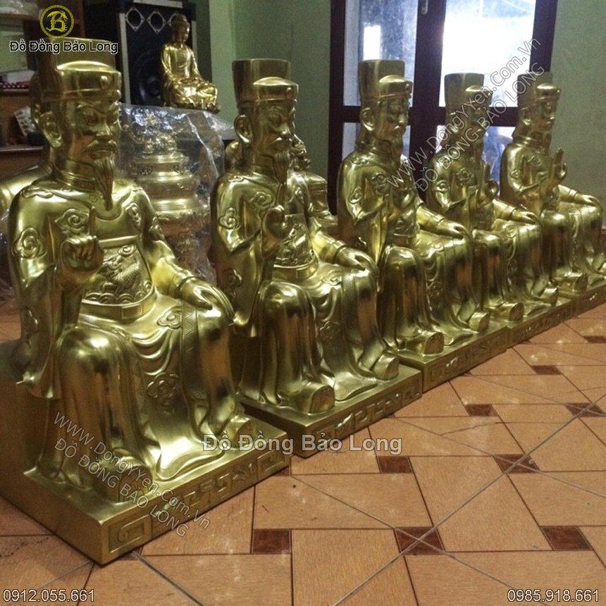 Tượng Ngũ Vị Tôn Quan Bằng Đồng 69cm